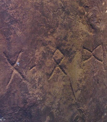 Runes carved on Heavener Runestone