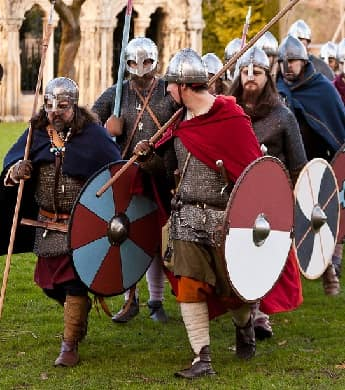 A group of Viking reenactors